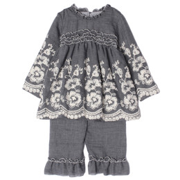 Isobella & Chloe Gracie 2pc Embroidered Tunic & Pant Set