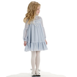 Biscotti Beautiful Dreamer Lace Bodice Dress - Blue