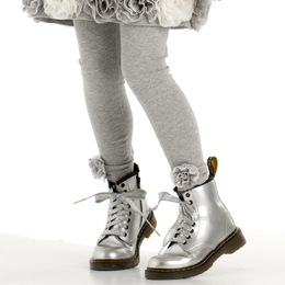Biscotti Delovely Flower Hem Legging - Grey