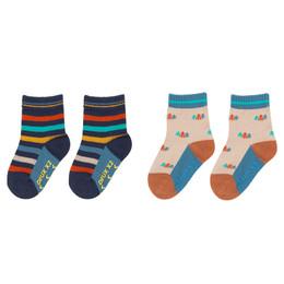 Deux Par Deux Whistle Punk Socks - 2 Pairs