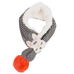 Catimini Ethno City Conte D'Hiver Pom Pom Character Scarf
