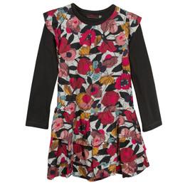 Catimini Graphic Floral Ma De Moizele 2pc Dress & Top Set