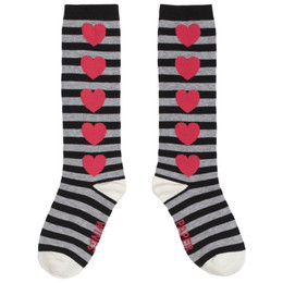 Paper Wings Socks - Black Stripes