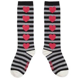 Paper Wings Socks - Black Stripes