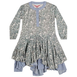 Paper Wings Fawns Frilled Dress - Grey