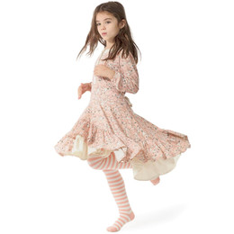 Paper Wings Fawns Frilled Dress - Peach