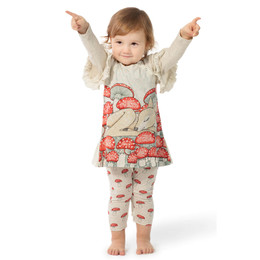 Paper Wings Mushroom Border Romper Dress