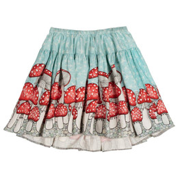 Paper Wings Mushroom Border Skirt