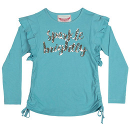 Paper Wings Sparkle Bright Drawstring Tee with Frills