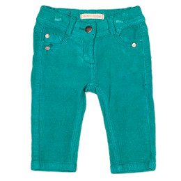 Deux Par Deux Paint Up Your Life Cord Pants - Dynasty Green