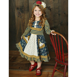 Mustard Pie Woodland Magic Scrappy Ramona Dress