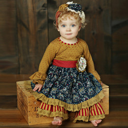 Mustard Pie Woodland Magic Olivia 2pc Dress Set (*Now up to 4T!*)