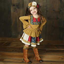 Mustard Pie Woodland Magic Molly Ruffle Top