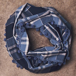 Jak & Peppar Wild Hearts Like The Wind Scarf - Sky Blue Plaid