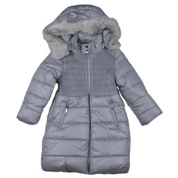 Mayoral Faux Fur Hooded Puffer Jacket - Perla