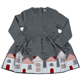 Mayoral Home Sweet Home Embroidered Dress - Acero Vig