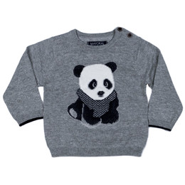 Mayoral Preppy Panda Bear Sweater - Acero