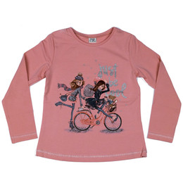 Mayoral Just Be Cool Bicycle Girls Tee - Chicle