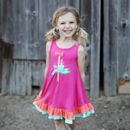 Lemon Loves Lime Woodland Play Hummingbird Ride Dress