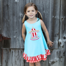 Lemon Loves Lime Woodland Play Carousel Ride Dress