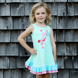 Lemon Loves Lime Woodland Play Flamingo Ride Dress