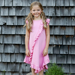 Lemon Loves Lime Woodland Play Frilly Dress - Begonia Pink