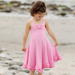 Lemon Loves Lime Secret Lagoon Bow Pretty Dress - Begonia Pink