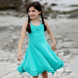Lemon Loves Lime Secret Lagoon Bow Pretty Dress - Atlantis