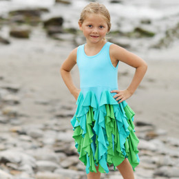 Lemon Loves Lime Secret Lagoon Bright Blossom Dress - Bachelor Blue