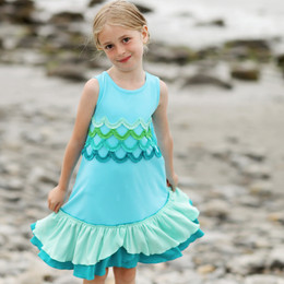 Lemon Loves Lime Secret Lagoon Splash Dress - Bachelor Blue