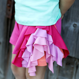 Lemon Loves Lime Candy Ribbon Shorts - Pinks