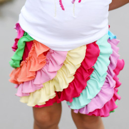 Lemon Loves Lime Ruffle Skort - Rainbow