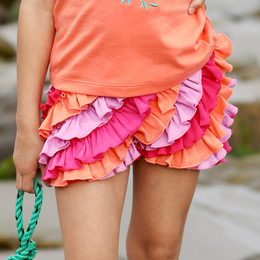 Lemon Loves Lime Ruffle Skort - Pinks