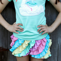 Lemon Loves Lime Ruffle Skort - Cotton Candy