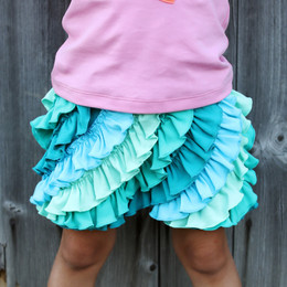 Lemon Loves Lime Ruffle Skort - Seaweed