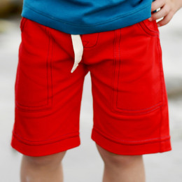Lemon Loves Lime Gnu Brand Cargo Shorts - Fiery Red