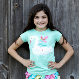 Lemon Loves Lime Woodland Play Swan & Grace Tee