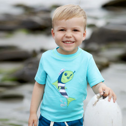 Lemon Loves Lime Gnu Brand Fish Sailor Tee