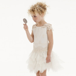 Biscotti Feeling Fancy Drop Waist Dress - Cream