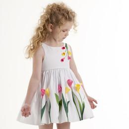 Biscotti Tulip Time Flower Dress - White