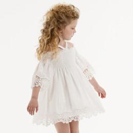 Biscotti Barely Blue Off Shoulder Dress - White