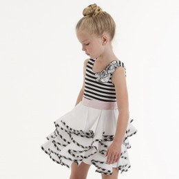 Biscotti Gingham Galore Stripe Dress - Black/White