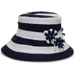 Kate Mack Daisy Crew Hat - Navy/White