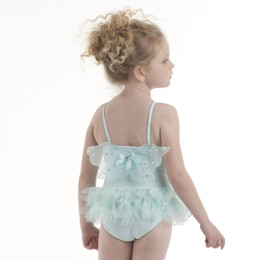 Kate Mack Fairy Dance Skirted Swim Tank - Aqua