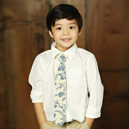 Mustard Pie Amber Fields Boy's Necktie - Navy