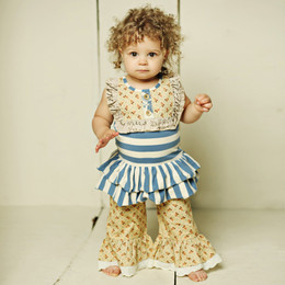 Mustard Pie Amber Fields Colette 2pc Romper Set (**Now up to size 6X**)