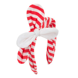 Deux Par Deux Safari Talk Headband - Teaberry Stripe