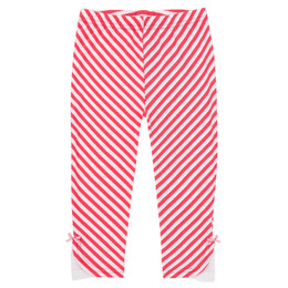 Deux Par Deux Safari Talk Legging - Teaberry Stripe