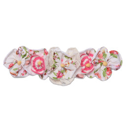 Isobella & Chloe Sweet Tea Elastic Flower Crown Headband - Pink