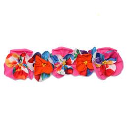 Isobella & Chloe Summer Bloom Elastic Flower Crown Headband - Pink